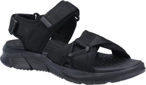 Skechers Equalizer 4.0 Sandal Tolgus Sandal Mens Summer Black / Black